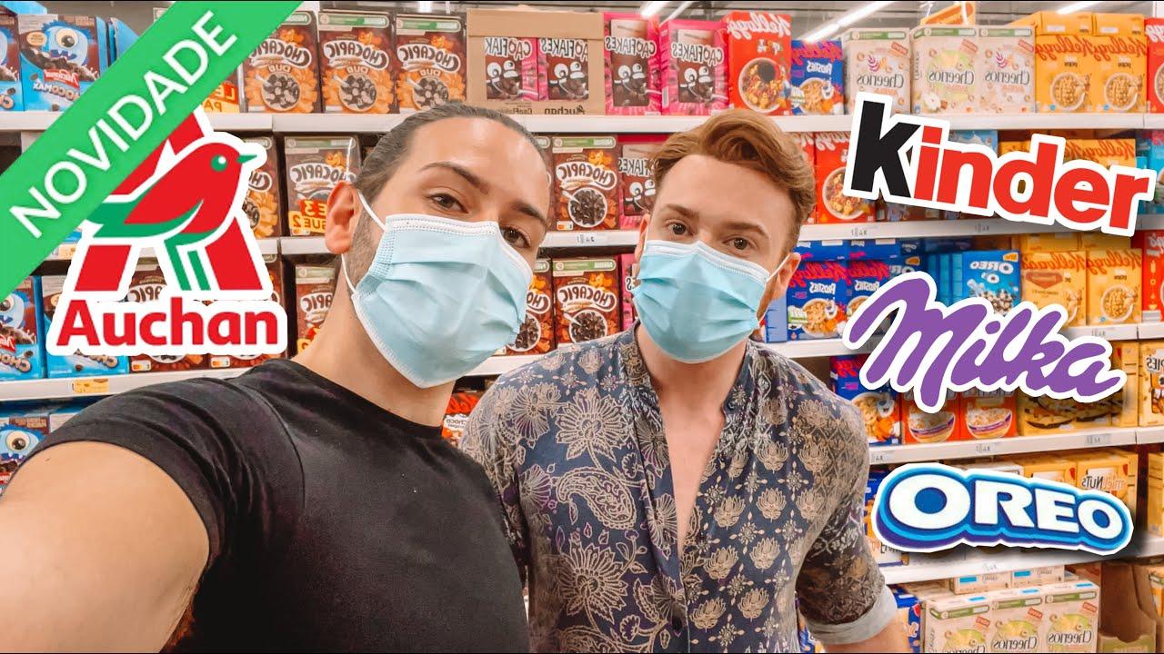 24H a comer APENAS as NOVIDADES do supermercado AUCHAN