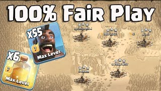 100% Fair Play 55 Hogs 6 Heal  Spell Easy Smashing 3 Star Any TH11 War Bases | Clash Of Clans War