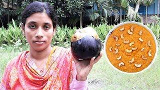 Taler Kheer Recipe | Palm Fruit Pudding | Bengali Sweet Taler Payesh Cooking By Street Village Food