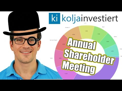 Kolja investiert - Annual Shareholder Meeting 2016