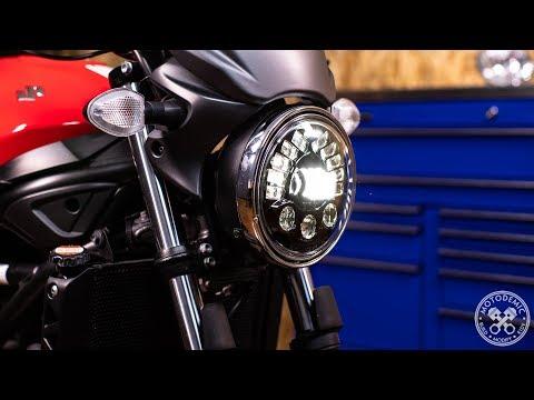 Suzuki SV650 LED Headlight Upgrade Install