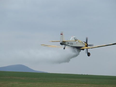 """Low pass and water bomb  by PZL  M18 """" Dromader """""""