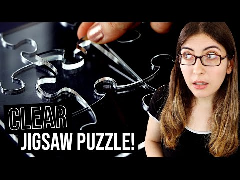 Doing A CLEAR Jigsaw Puzzle