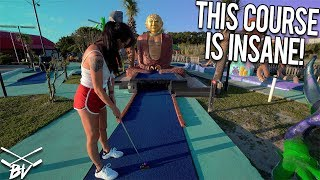 YOU HAVE TO SEE THIS MINI GOLF COURSE! - ONE OF THE BEST IN THE WORLD! - CRAZY HOLE IN ONES!