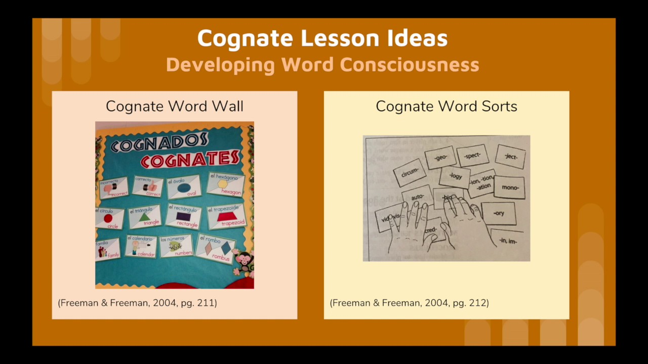Cognates in Vocabulary Instruction with ELLs - YouTube