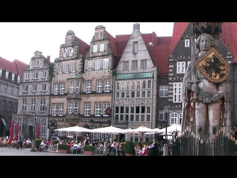 Germany '11 - Bremen city center - Weser riverfront promenade and old town