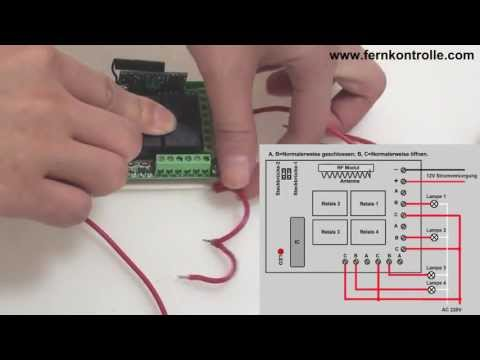 4 Kanal Funk Lichtschalter für Elektrische Geräte S4C-DC & C-4 9v ...