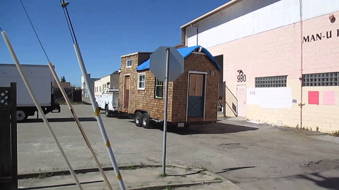 tiny house departs fabrication site youtube. Black Bedroom Furniture Sets. Home Design Ideas