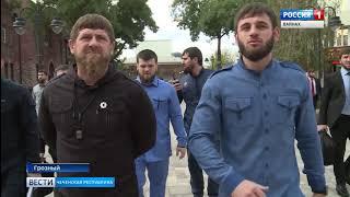 Рамзан Кадыров совершил инспекцию на проспекте Махмуда Эсамбаева.