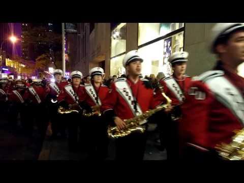 NewYork Radio city Street Musical , Christmas tree #by# valboldwinart#