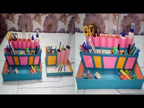 How To Make a DIY Desk Pen Pencil Stand || Pen Holder || Dekh Kar Sikhe