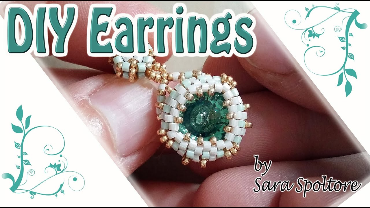 Christmas Tree Setup Instructions : Diy earrings with beads beading tutorial how to bezel