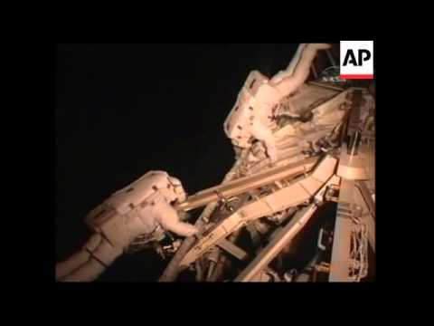 Astronauts step out on 1st spacewalk of mission; briefing