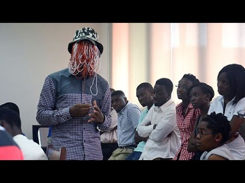 Anas storm Accra International Conference Center for Kwesi Nyantakyi's movie