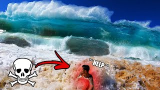 The Scariest Thing I've Ever Seen In Person!! (Massive Shore Break Waves)