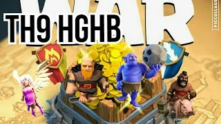 "Clash of Clans - TH9 HGHB New ""Best"" 3☆Attack Strategy (even without heroes)"