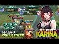 1 Savage 2 Maniac Aggressive Gameplay Karina by Nv    K     z     x Top 1 Global Karina   Mobile Legends