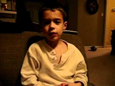Tylers Funny Psalm recitation, Kids Bible Homework.AVI