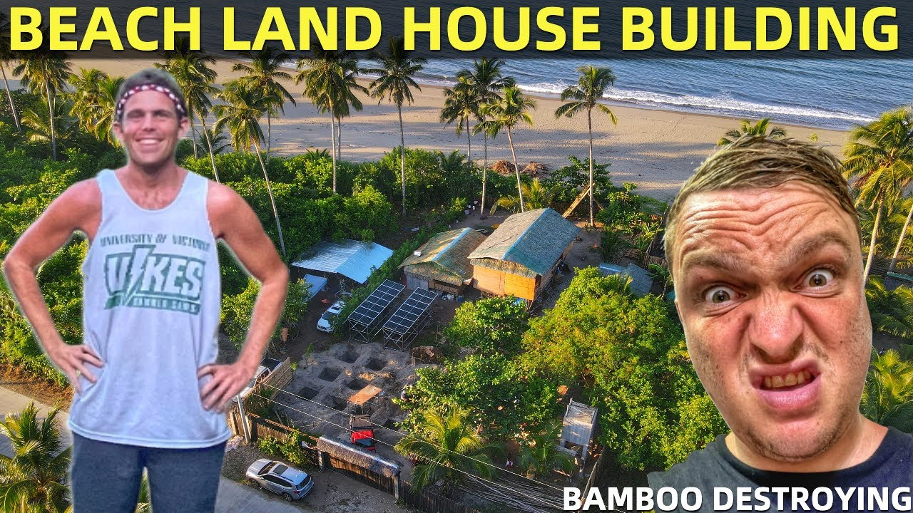 PHILIPPINES BEACH HOUSE BUILDING OR DESTROYING? Family Life In Davao Mindanao!