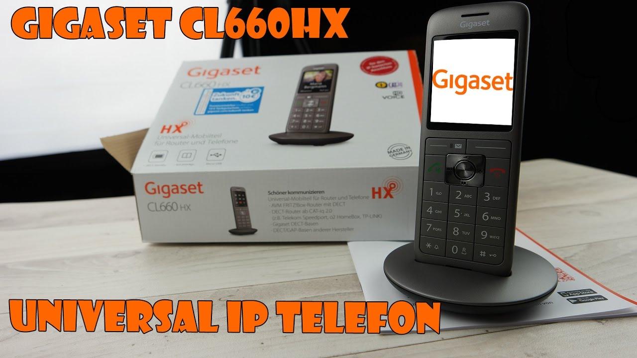 Gigaset Cl660hx Das Ip Dect Telefon Fur Ip Router Wie Fritzbox Speedport Und Viele Weitere Modelle Youtube