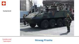 Type 96 or Mowag Piranha, 8x8 personnel carriers specs comparison