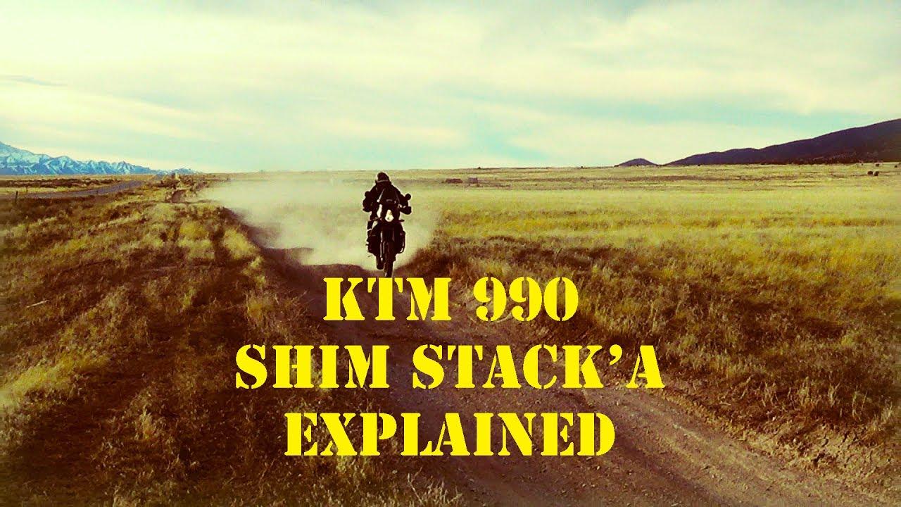 KTM990 Fork Shim Stack Mod explained - Pt 2