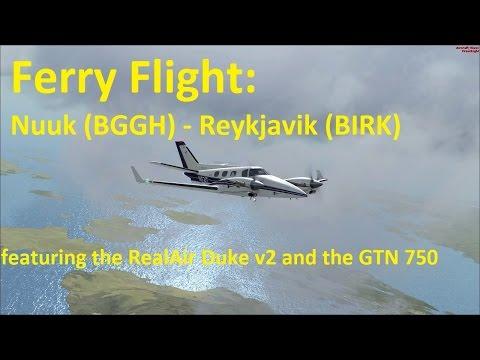 Ferry Flight: Nuuk (BGGH) - Reykjavik (BIRK)