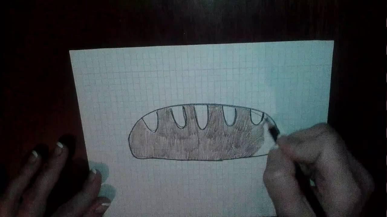 Как рисовать хлеб маслом