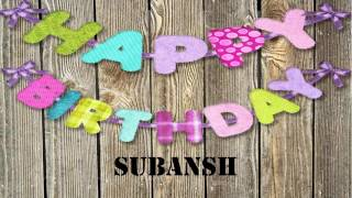Subansh   Birthday Wishes