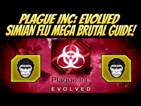 Plague Inc: Evolved Simian Flu Mega Brutal Guide! BEST METHOD