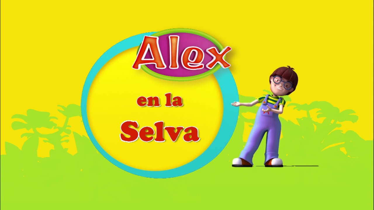 Alex, dibujos educativos preescolar: HIPOPÓTAMO (Alex en la Selva)