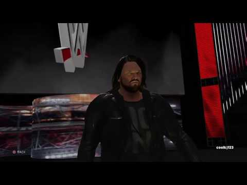 WWE2K17: AJ Styles Entrance With TNA Theme Evil Ways