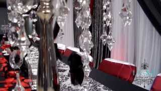 2013 Black and Red Wedding Decor by LUXE Weddings and Events