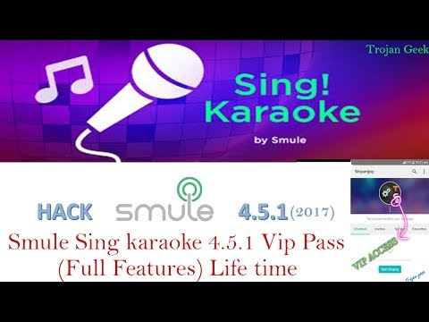 Smule Sing v4.5.1 karaoke Vip Pass Hack(Latest version) Android 2017 july