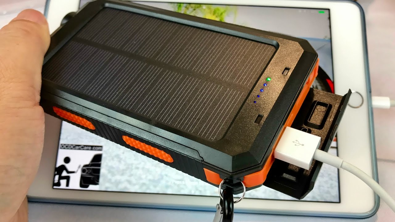 Rugged Solar Charger 10000mah Portable Power Bank Battery With Led Based Multipurpose Circuit Panel System Flashlight And Compass By Absone