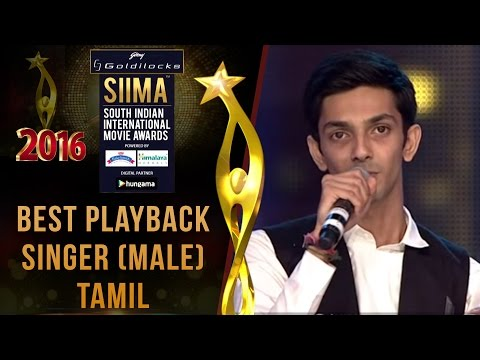SIIMA 2016 Best Playback Singer (Male) Tamil | Anirudh - Thangamey Song