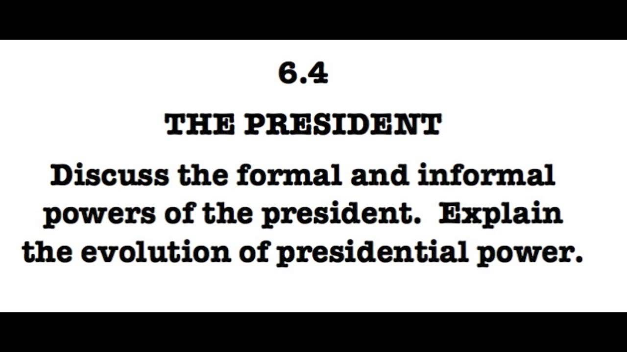 an analysis of presidential powers Perhaps the most important of all presidential powers is command of the united   in summary, congress may exercise the powers that the constitution grants it.