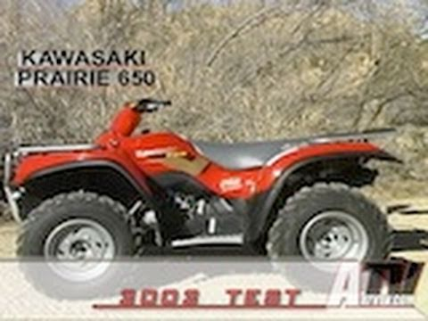 Atv Television Kawasaki Prairie 650 Test Youtube
