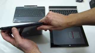 ASUS Transformer Book T100 Unbox, Comparison with Lenovo Miix 2 10