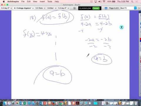 5 1 College Algebra day 1