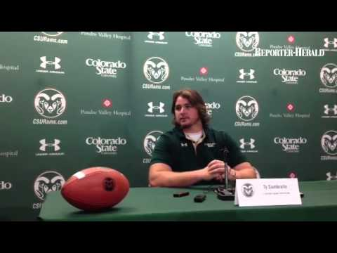 #csufootball Tackle Ty Sambrailo on the offensive line shuffle this season