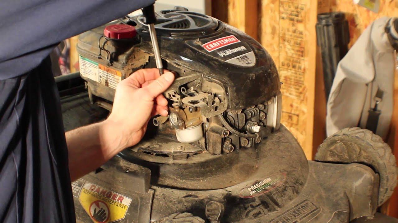 medium resolution of briggs and stratton carb rebuild on a craftsman