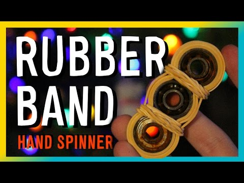 Diy Homemade Spinner Fidget SPINNER TORQBAR BAND Tutorial RUBBER Cheap HAND Toys DIY