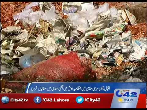 Iqbal Town : Administration action in a vegetable market,