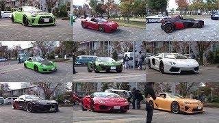 スーパーカー展示車の搬入時の映像です。 ランボルギーニ、フェラーリ、...