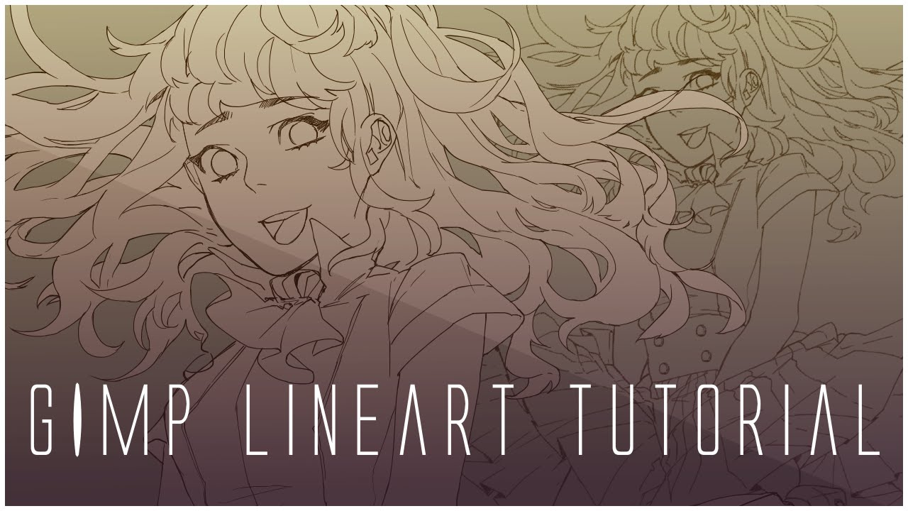 Line Art Tutorial : Line art tutorial gimp youtube