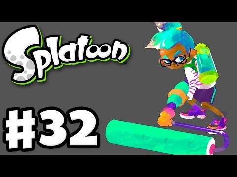 Splatoon - Gameplay Walkthrough Part 32 - Back to the Carbon Roller! (Nintendo Wii U)