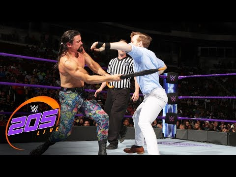 Gentleman Jack Gallagher Vs The Brian Kendrick - No DQ Match: WWE 205 Live- 29- 2017