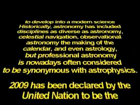 International Year Of Astronomy 2009 Presentation: The Universe Yours To Discover