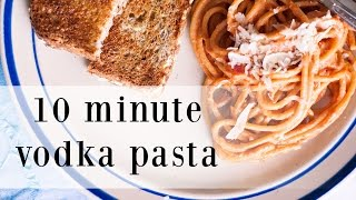 10 minute vodka pasta recipe   the sunday project